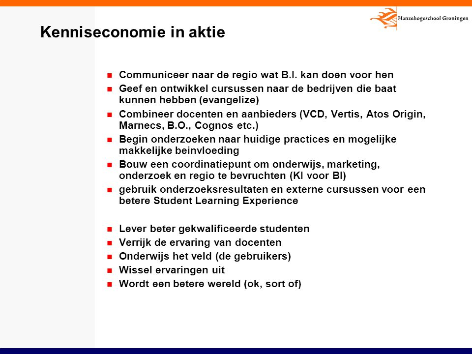 Kenniseconomie in aktie
