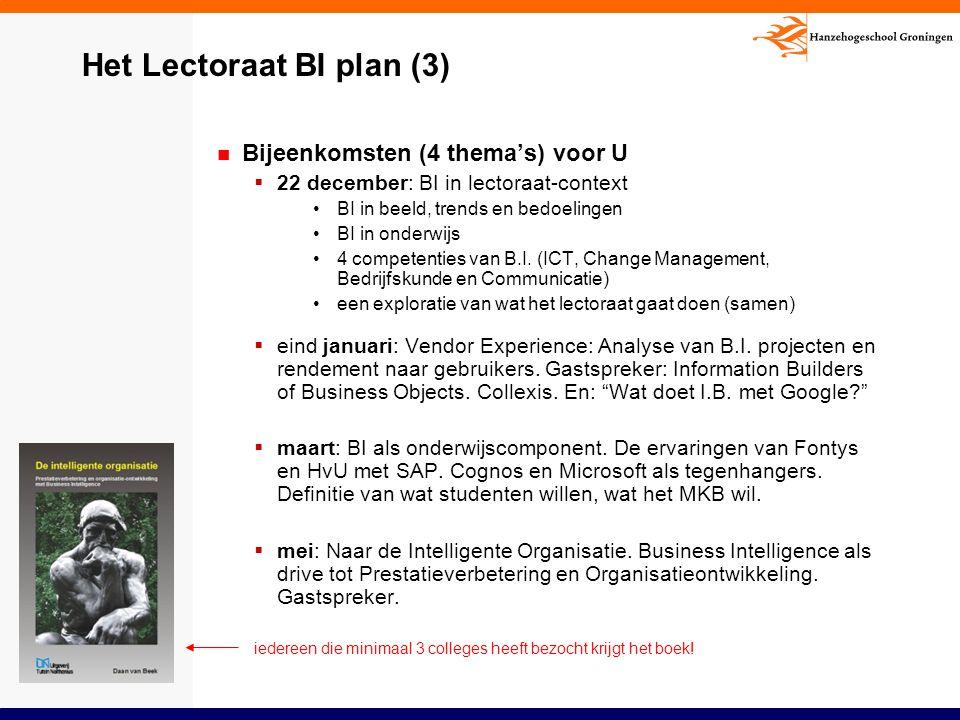 Het Lectoraat BI plan (3)