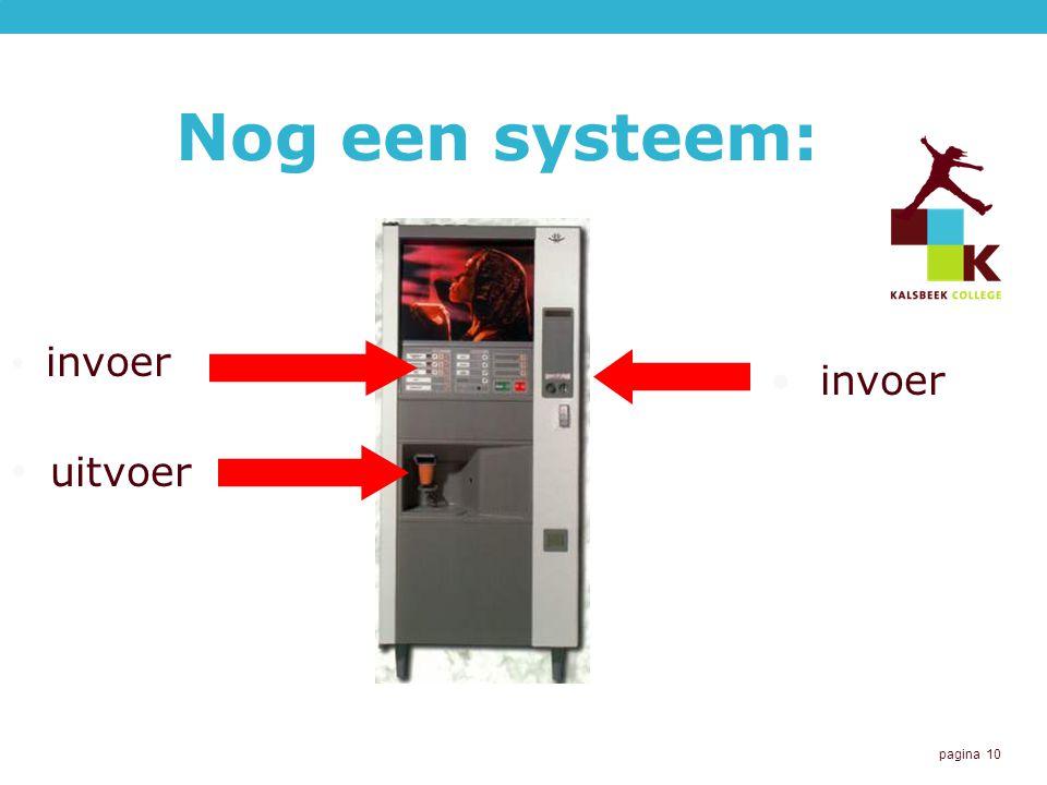 Nog een systeem: invoer invoer uitvoer