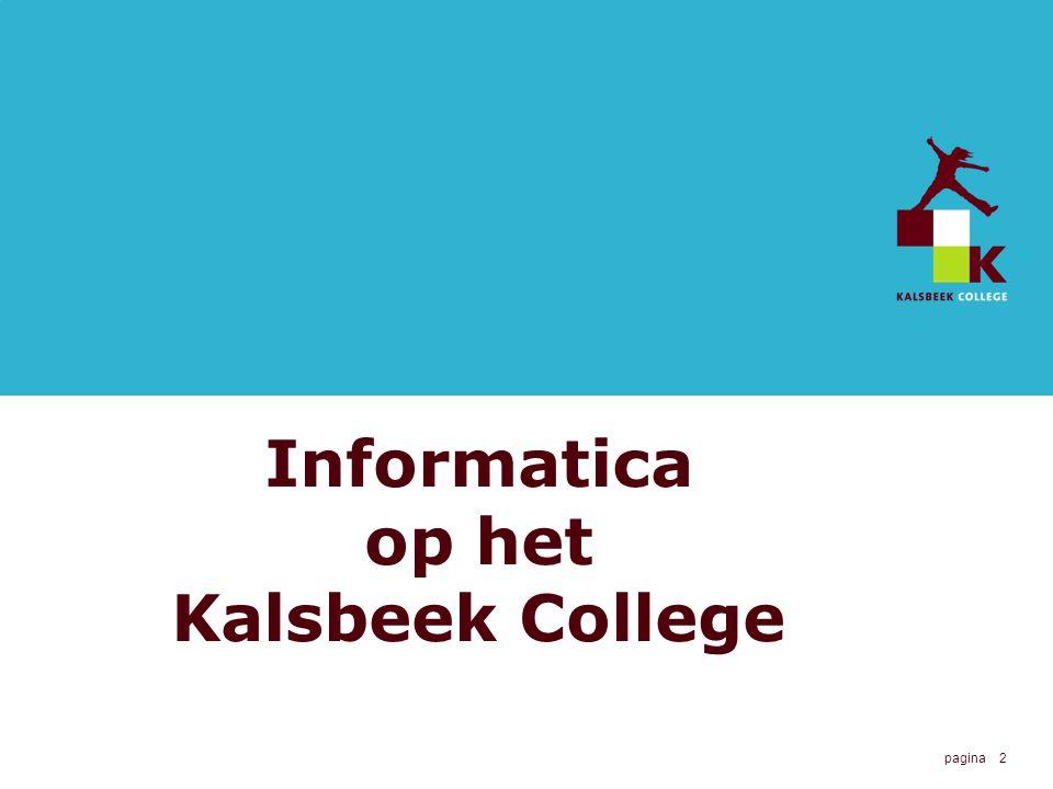 Informatica op het Kalsbeek College