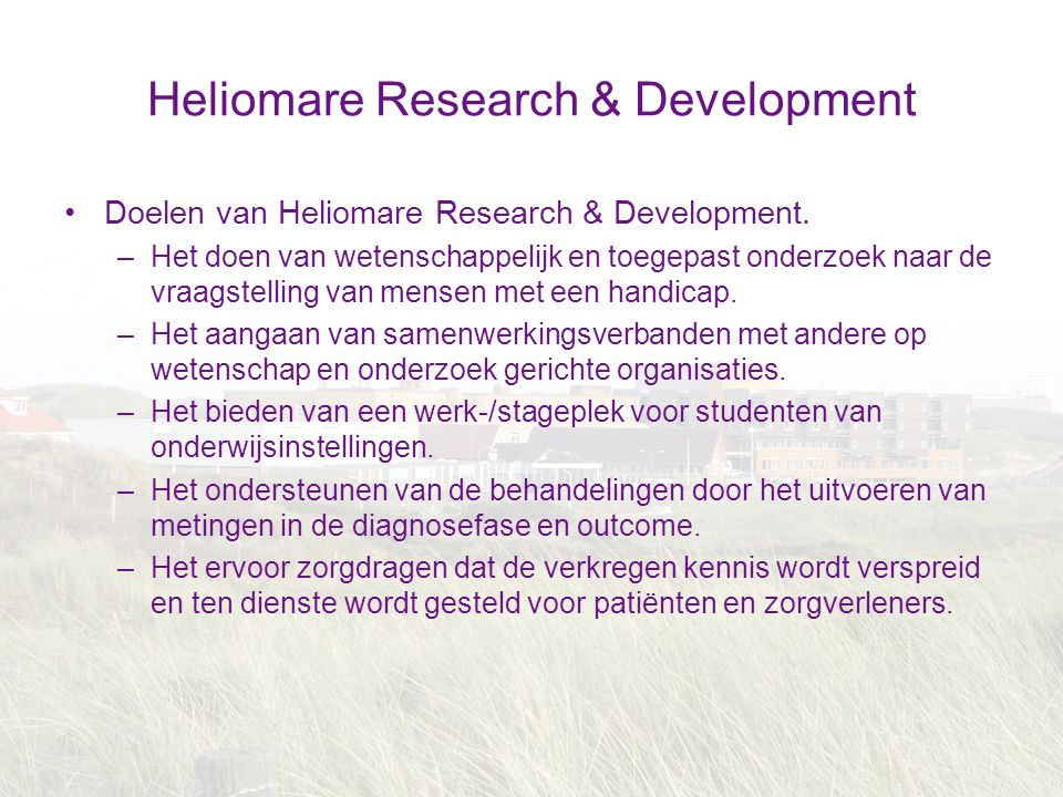 Heliomare Research & Development