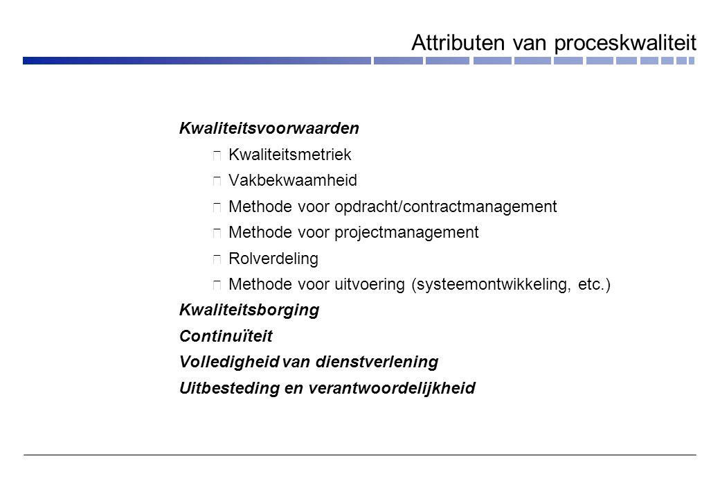 Attributen van proceskwaliteit