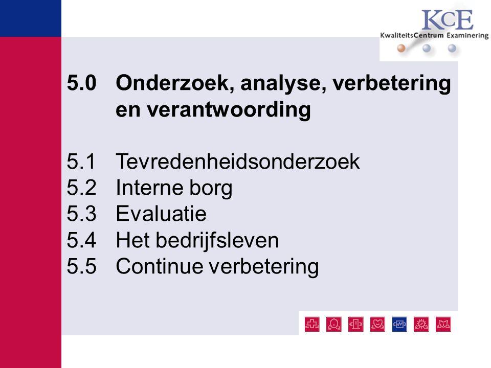 5.0 Onderzoek, analyse, verbetering