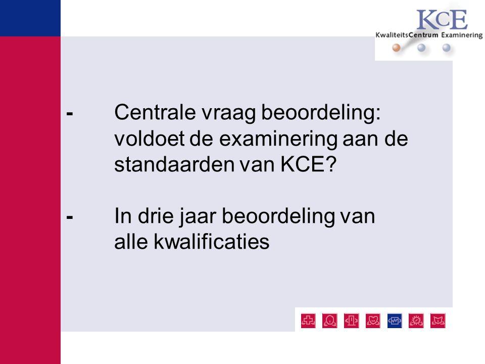 - Centrale vraag beoordeling: