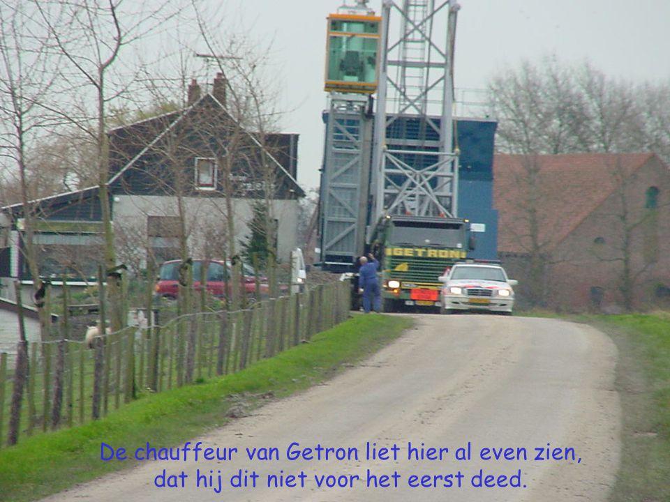 De chauffeur van Getron liet hier al even zien, dat hij dit niet voor het eerst deed.