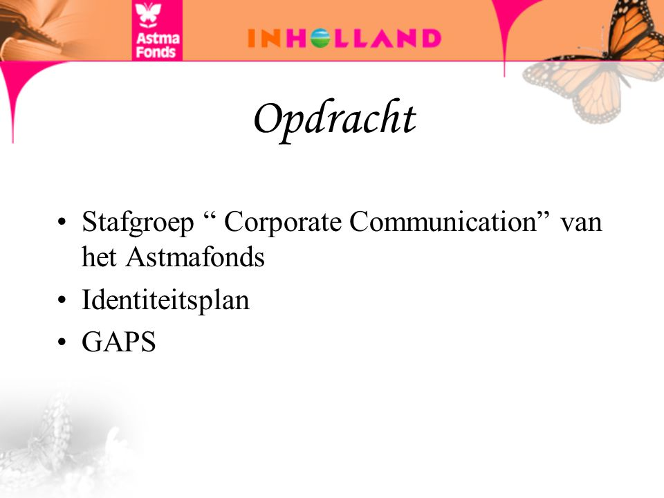 Opdracht Stafgroep Corporate Communication van het Astmafonds