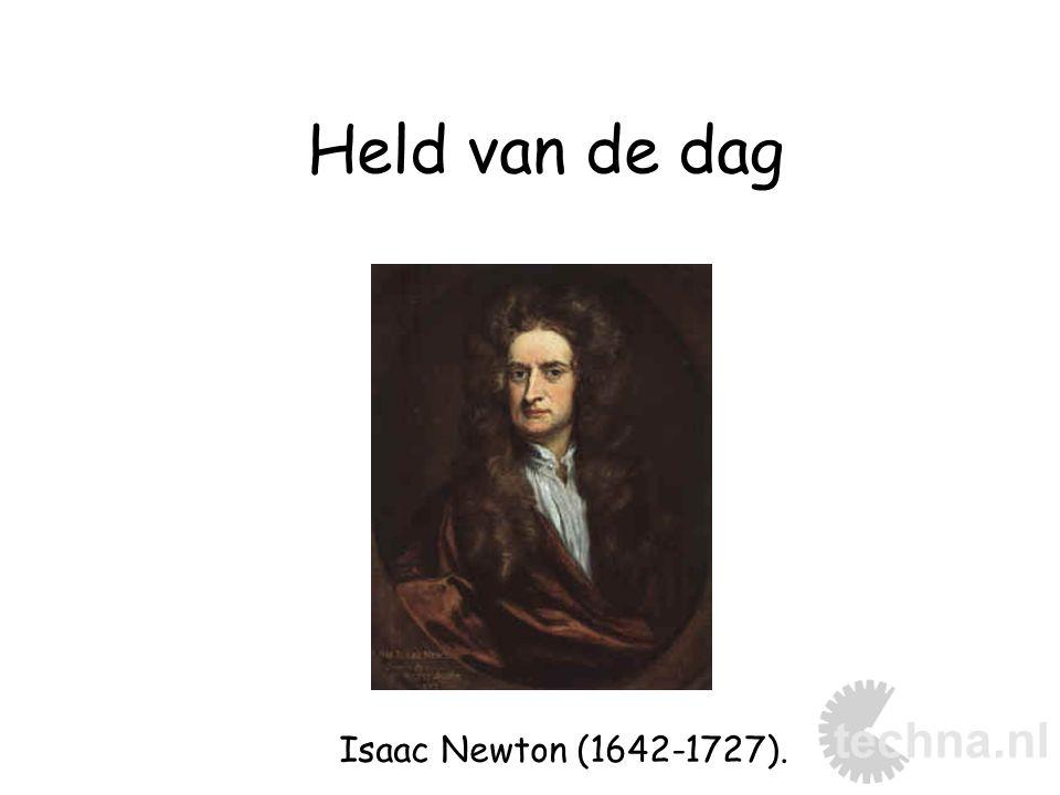 Held van de dag Isaac Newton (1642-1727).