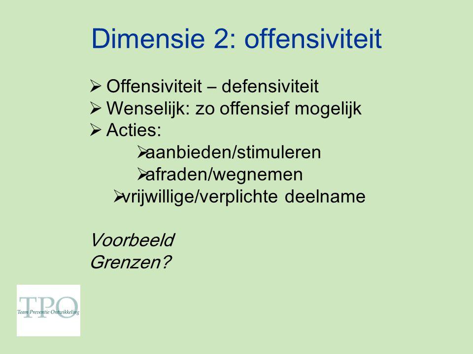 Dimensie 2: offensiviteit