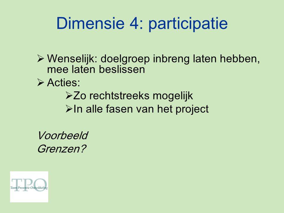 Dimensie 4: participatie