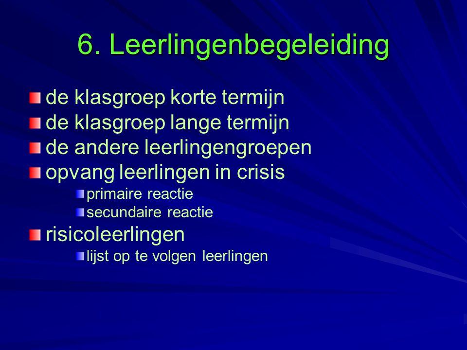 6. Leerlingenbegeleiding
