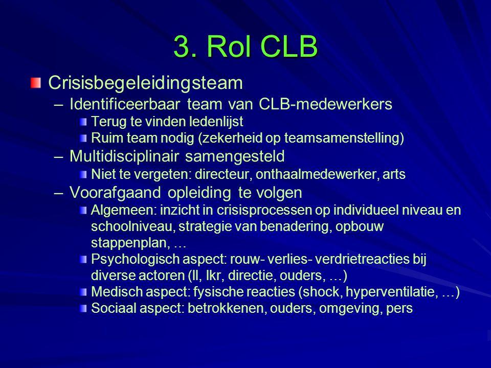 3. Rol CLB Crisisbegeleidingsteam