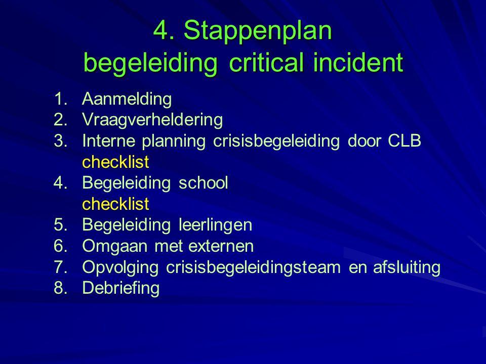 4. Stappenplan begeleiding critical incident