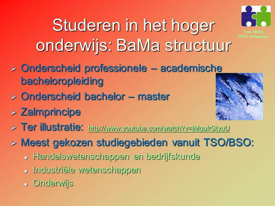 Studeren in het hoger onderwijs: BaMa structuur