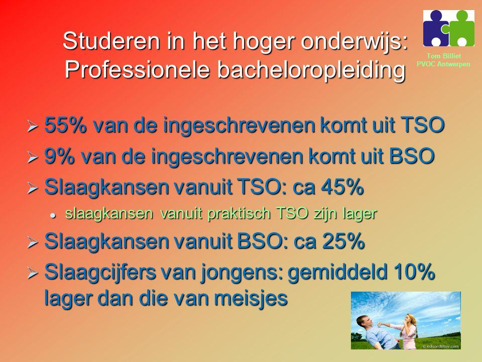 Studeren in het hoger onderwijs: Professionele bacheloropleiding
