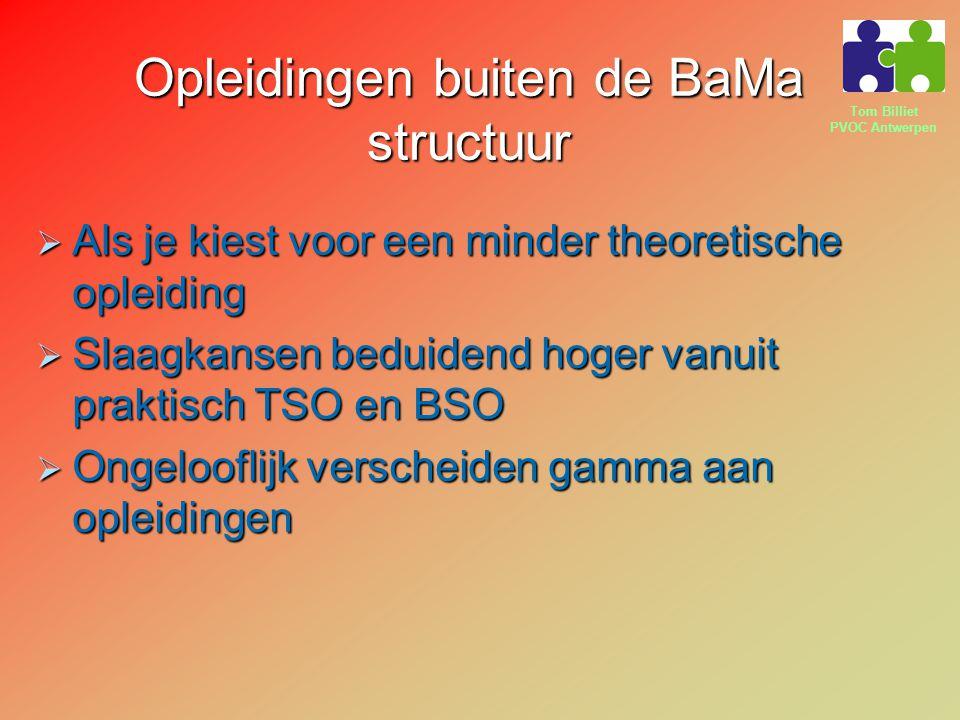 Opleidingen buiten de BaMa structuur
