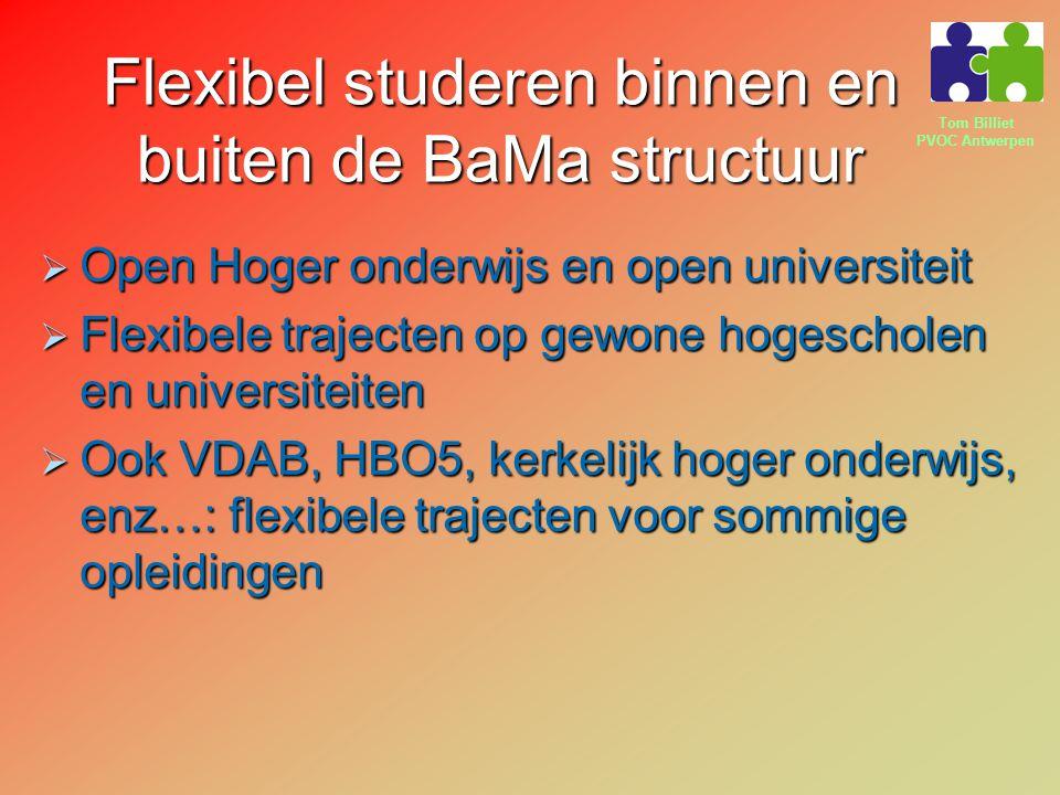 Flexibel studeren binnen en buiten de BaMa structuur