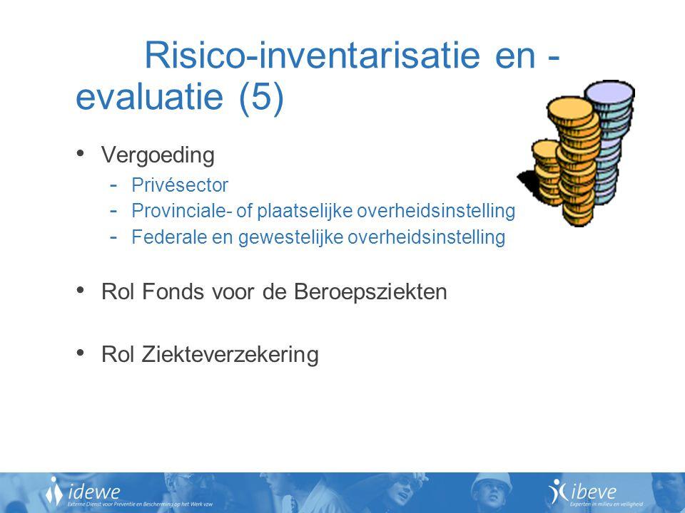 Risico-inventarisatie en -evaluatie (5)