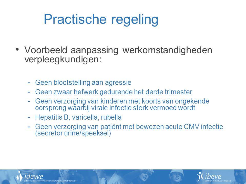 Practische regeling Voorbeeld aanpassing werkomstandigheden verpleegkundigen: Geen blootstelling aan agressie.