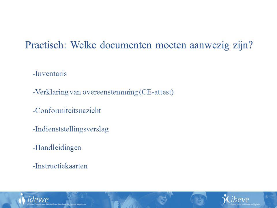 Practisch: Welke documenten moeten aanwezig zijn