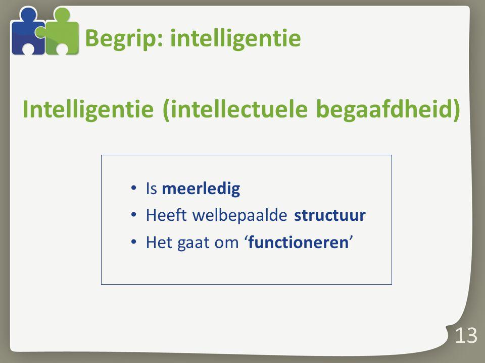 Begrip: intelligentie
