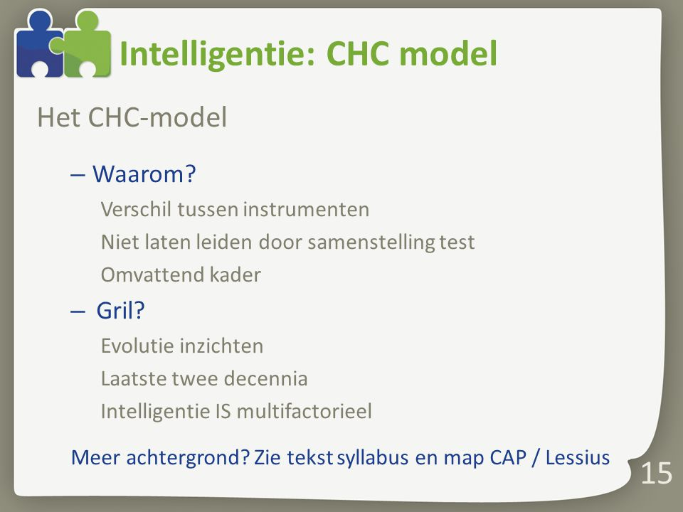 Intelligentie: CHC model
