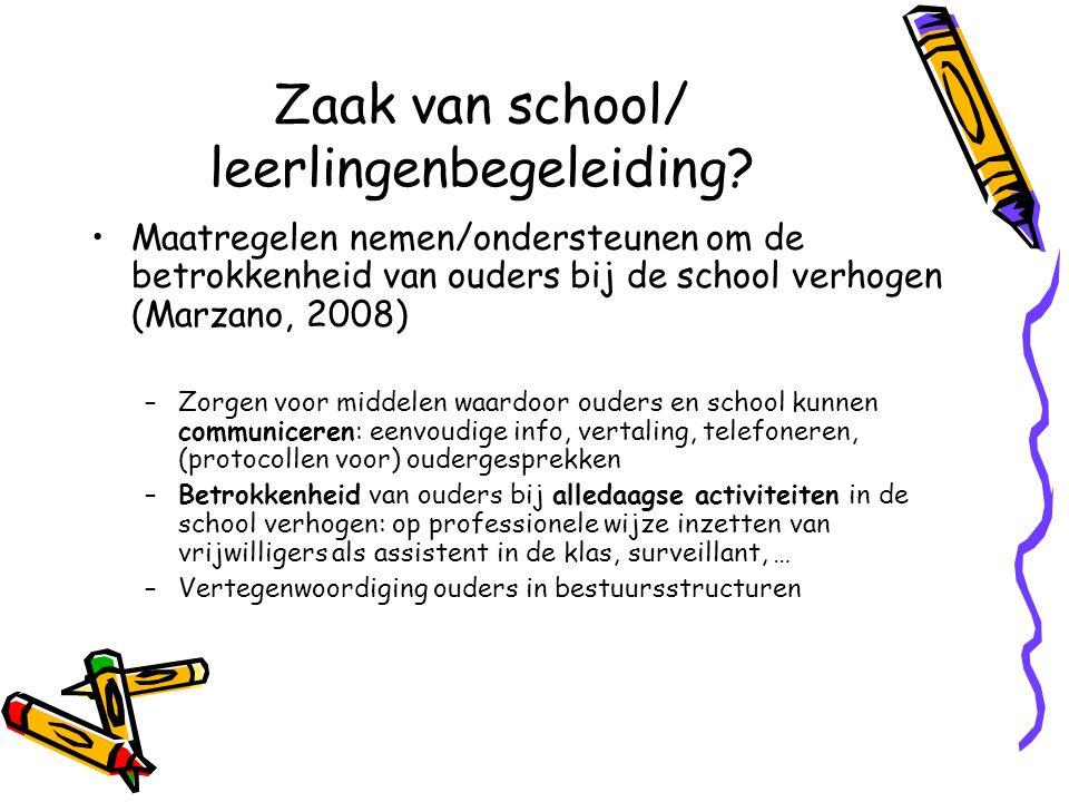 Zaak van school/ leerlingenbegeleiding