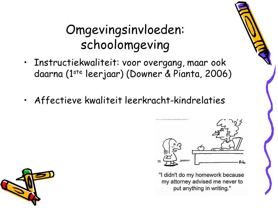 Omgevingsinvloeden: schoolomgeving