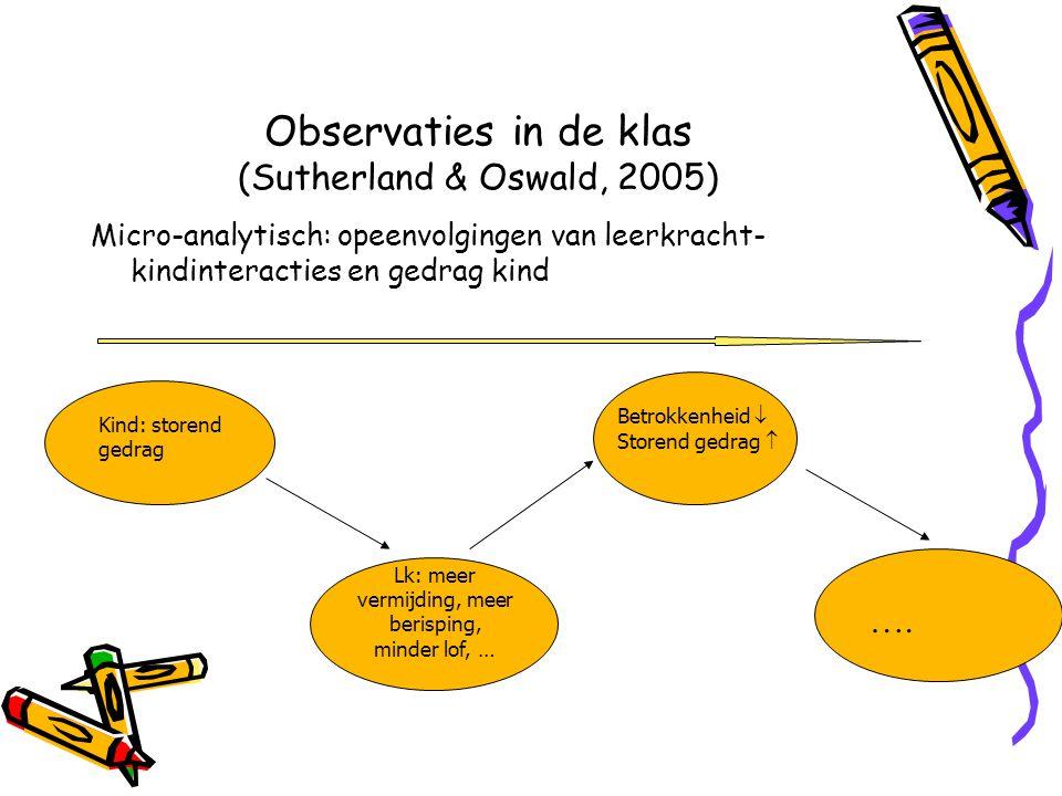 Observaties in de klas (Sutherland & Oswald, 2005)