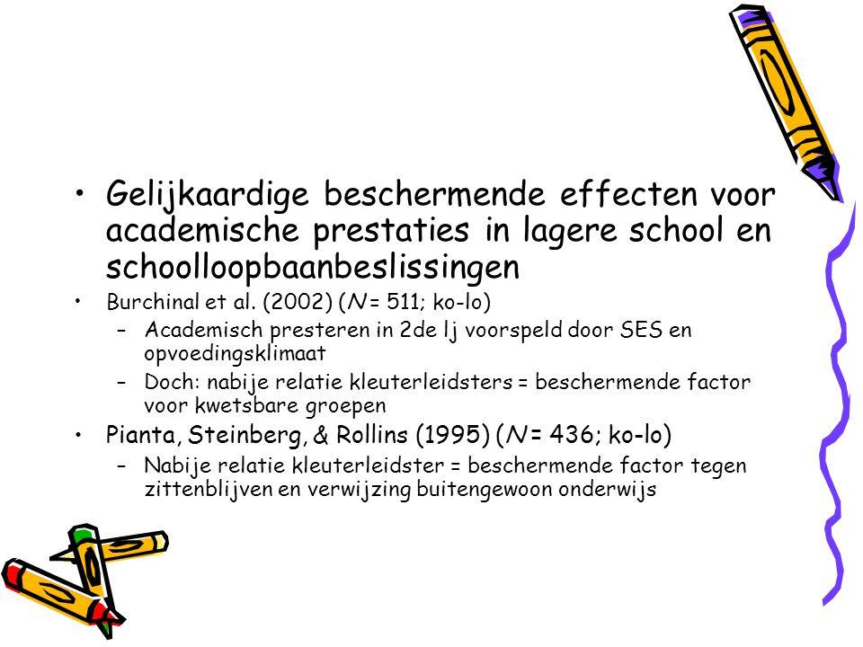 Gelijkaardige beschermende effecten voor academische prestaties in lagere school en schoolloopbaanbeslissingen