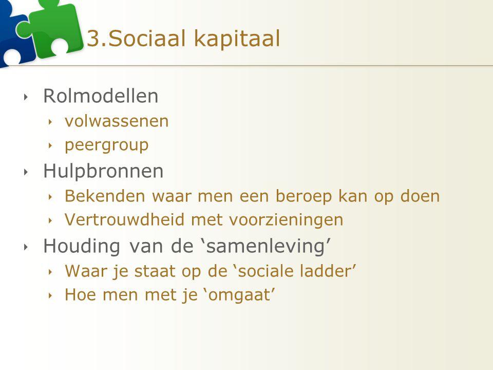 3.Sociaal kapitaal Rolmodellen Hulpbronnen