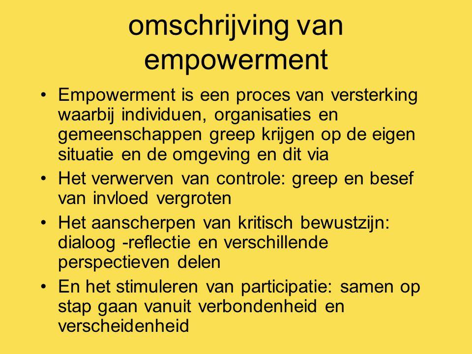 omschrijving van empowerment