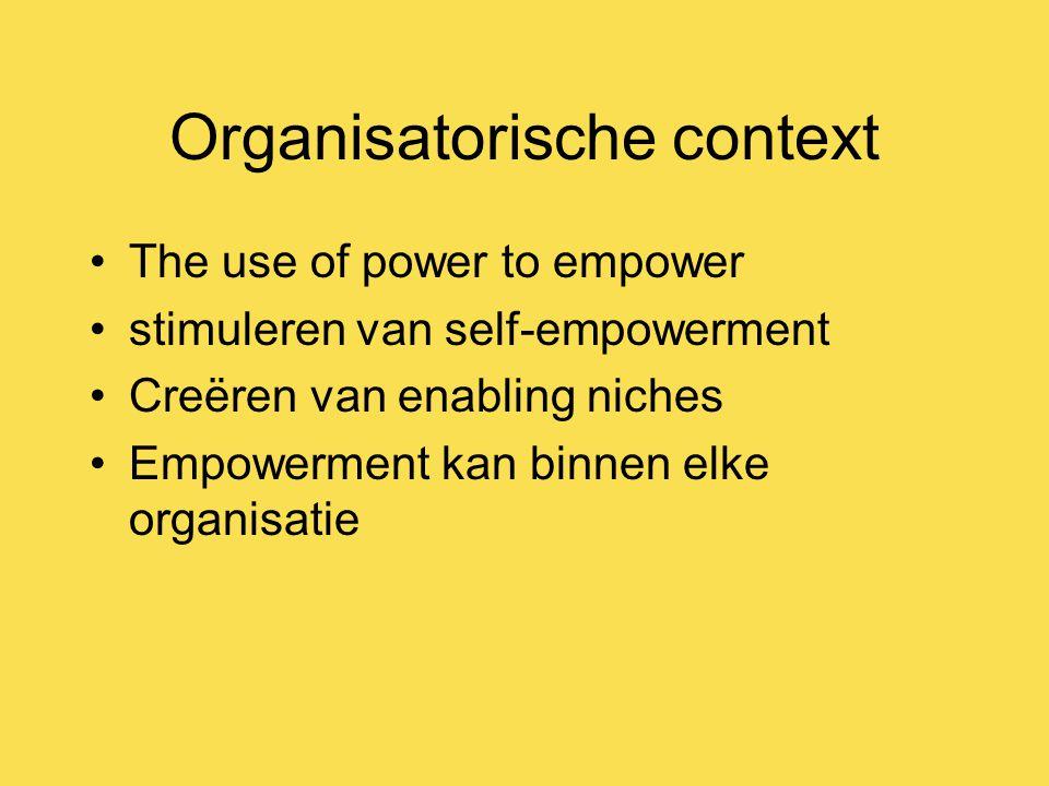 Organisatorische context