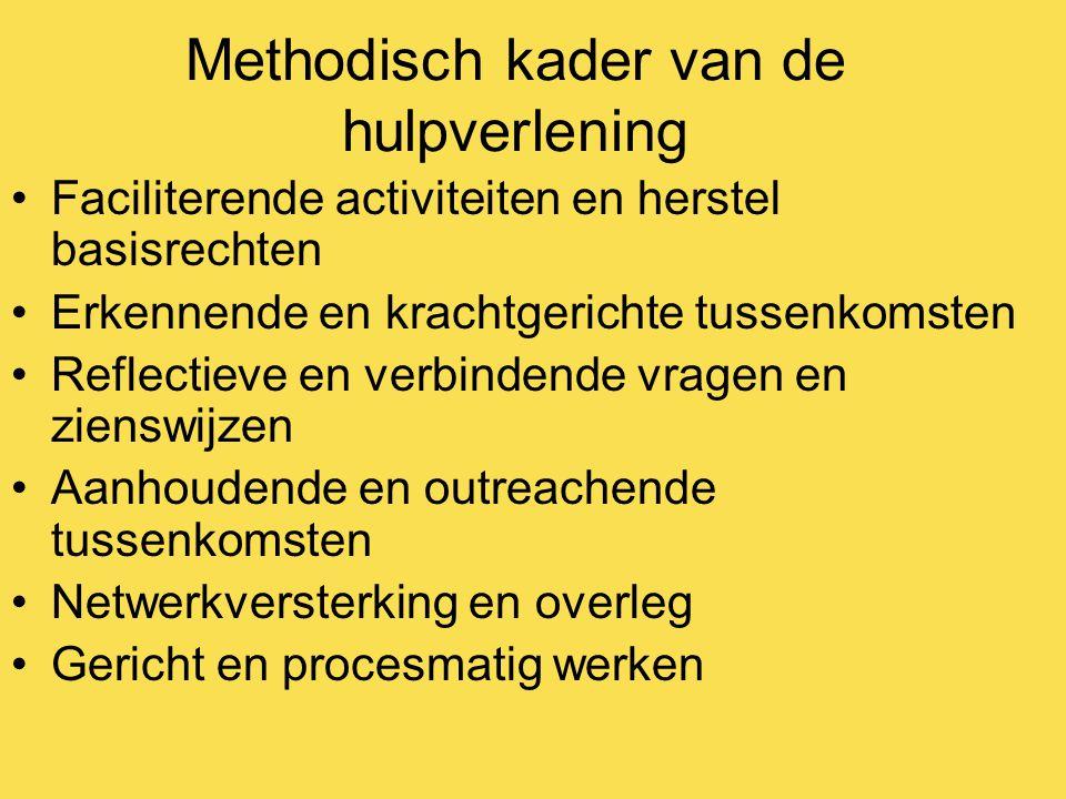 Methodisch kader van de hulpverlening