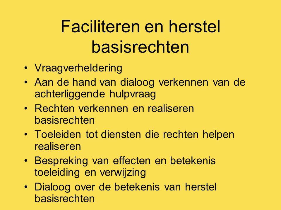 Faciliteren en herstel basisrechten
