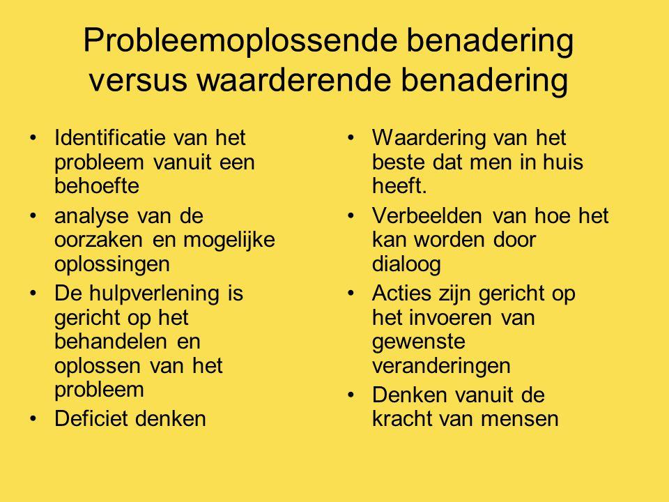Probleemoplossende benadering versus waarderende benadering