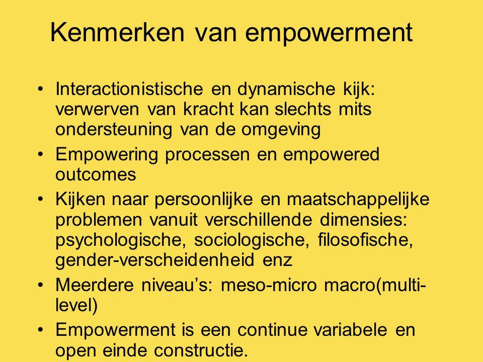 Kenmerken van empowerment