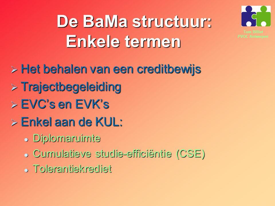 De BaMa structuur: Enkele termen