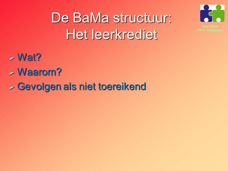 De BaMa structuur: Het leerkrediet