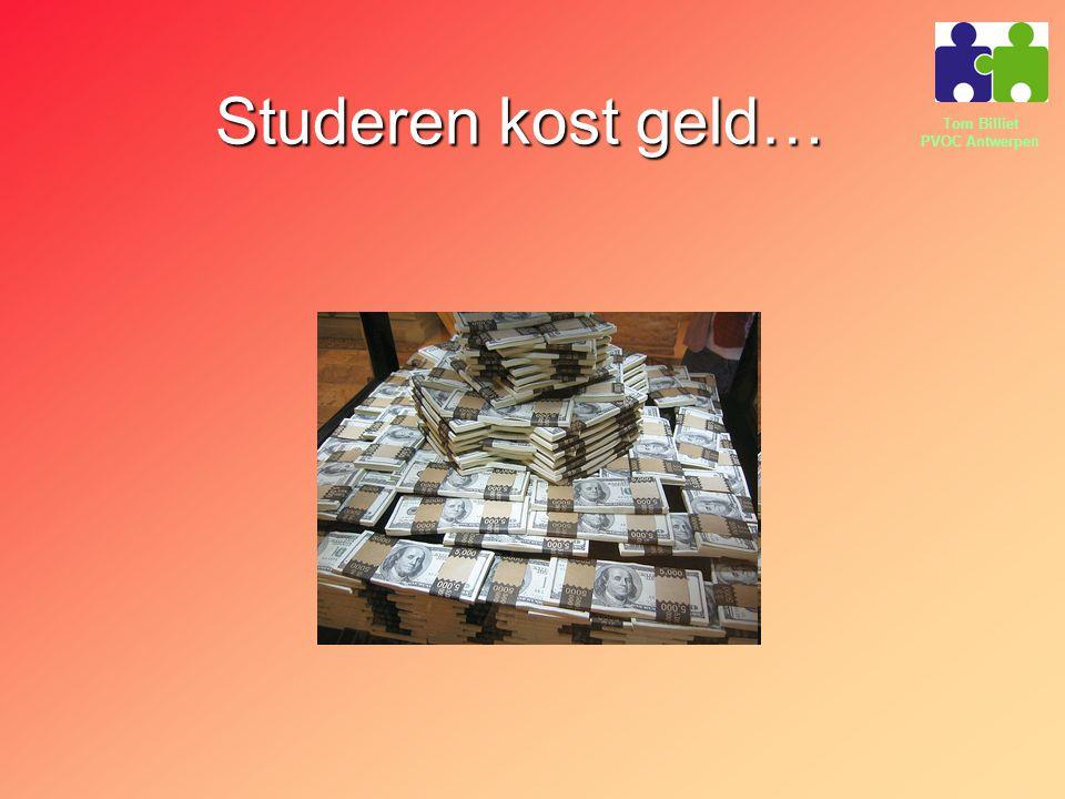 Studeren kost geld…