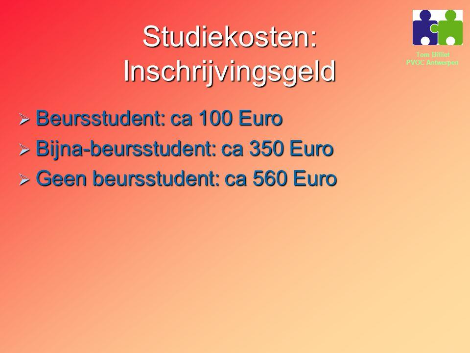 Studiekosten: Inschrijvingsgeld