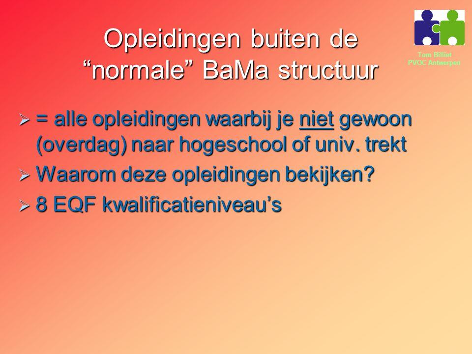 Opleidingen buiten de normale BaMa structuur