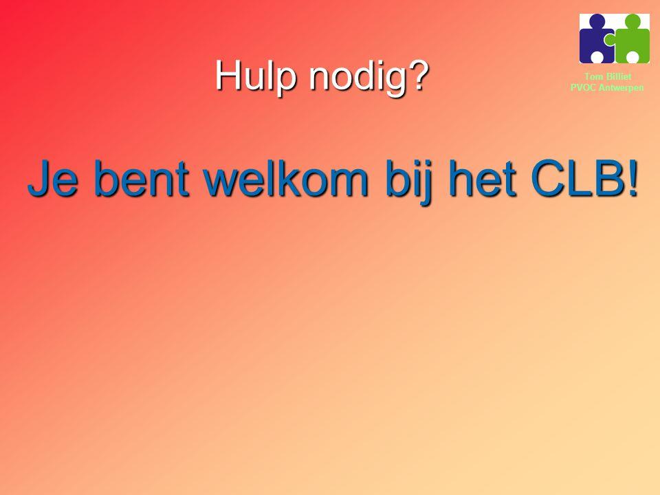 Je bent welkom bij het CLB!
