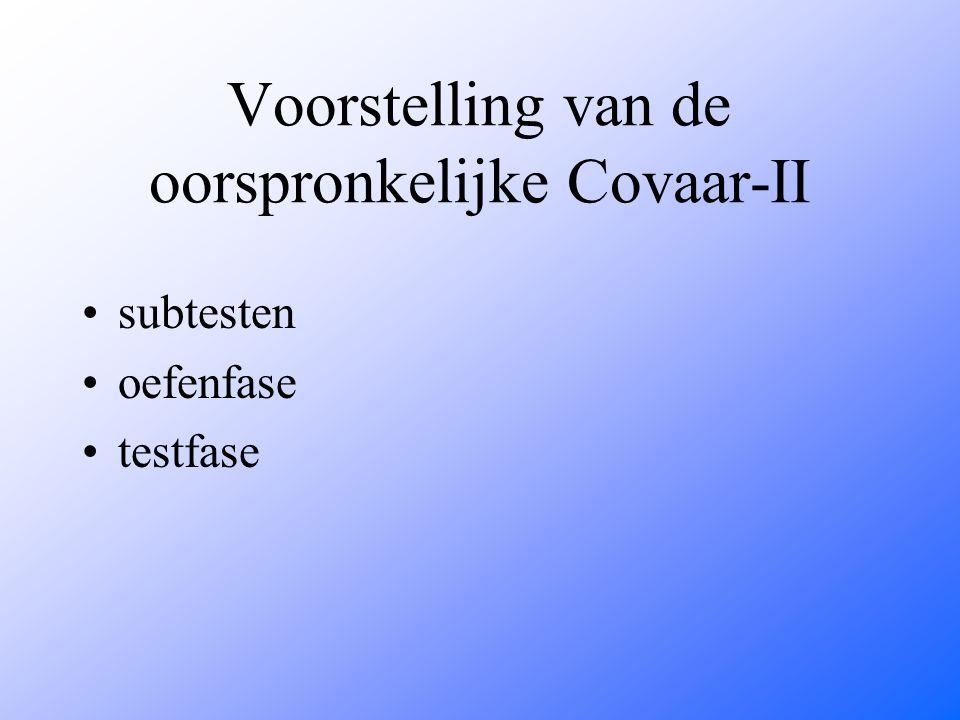 Voorstelling van de oorspronkelijke Covaar-II
