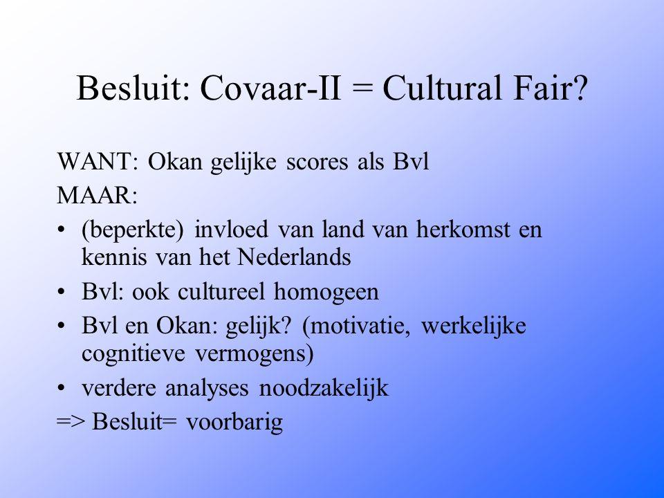 Besluit: Covaar-II = Cultural Fair