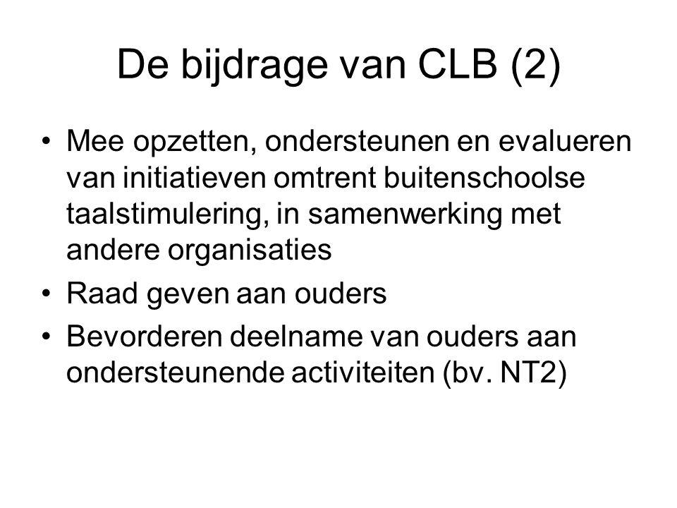 De bijdrage van CLB (2)