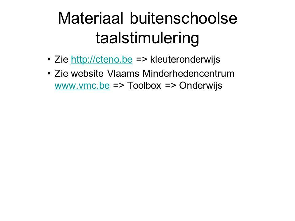 Materiaal buitenschoolse taalstimulering