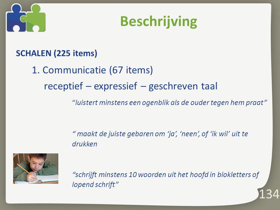 Beschrijving 134 1. Communicatie (67 items)