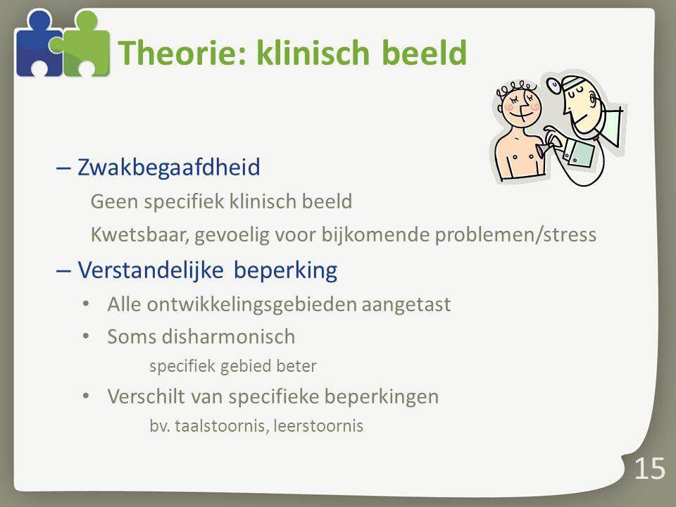 Theorie: klinisch beeld