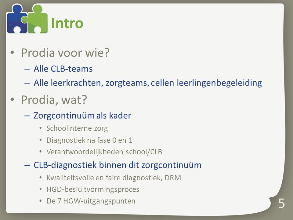 Intro Prodia voor wie Prodia, wat Alle CLB-teams