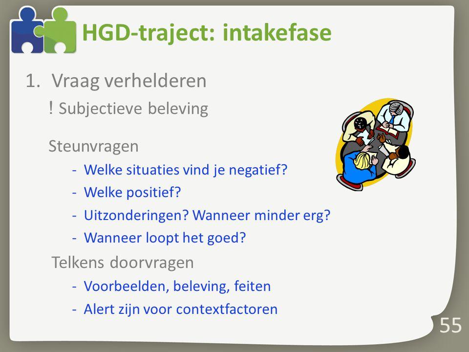 HGD-traject: intakefase